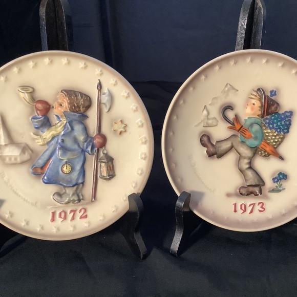 Pair of Vintage Hummel Decorative Plates 1972&1973